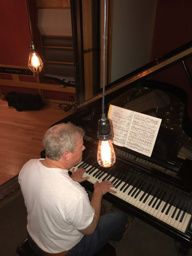 Kev warms up the Steinway