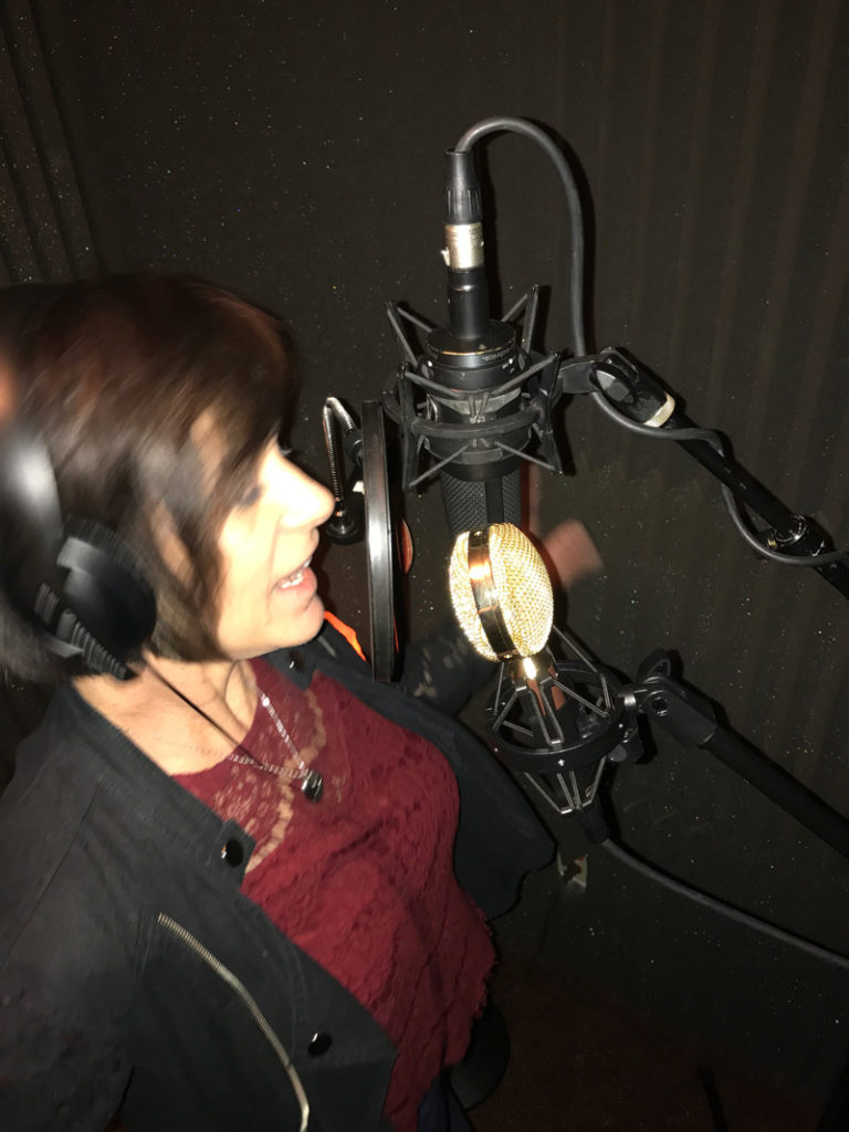 Susan in the booth